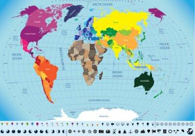 Bild hoch detaillierte Weltkarte