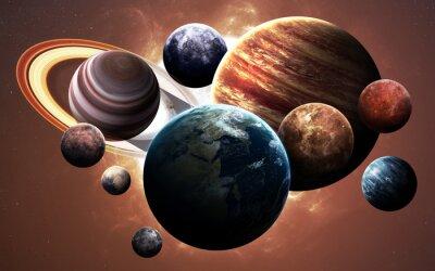 Bild Hochauflösende Bilder präsentieren Planeten des Sonnensystems. Diese Bildelemente von der NASA