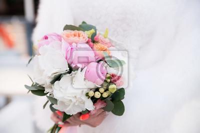 Hochzeit Bouquet Mit Pfingstrosen Rosa Und Weisse Blumen