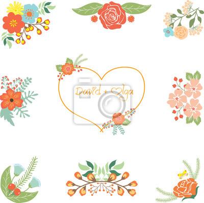 Hochzeit Clipart Leinwandbilder Bilder Hochzeit Blumen Nubes