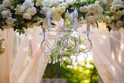 Kronleuchter Floral ~ Hochzeit dekoration blumen und kronleuchter leinwandbilder