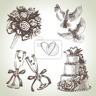 Hochzeit. Hand, die Abbildung