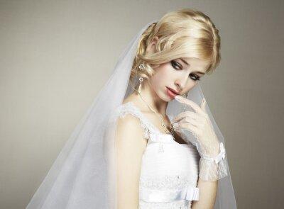Bild Hochzeit Portrait der schönen jungen Braut