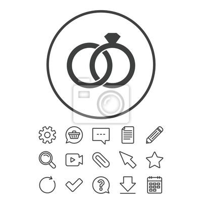 Hochzeit Ringe Zeichen Symbol Verlobungssymbol Leinwandbilder