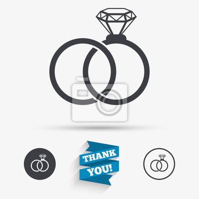 Hochzeit Ringe Zeichen Symbol Verlobungszeichen Leinwandbilder