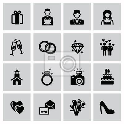 Hochzeit Symbole Leinwandbilder Bilder Piktogramm Champagner