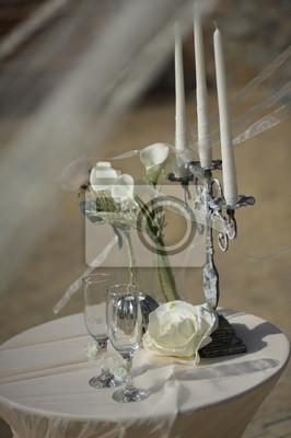 Hochzeit Tisch Mit Kerzen Leinwandbilder Bilder Gruner Espousal