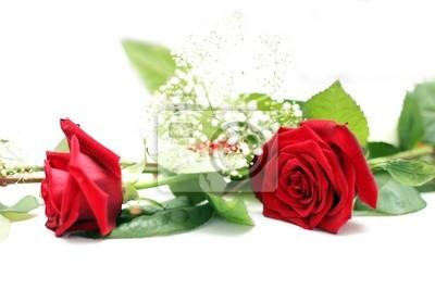 Hochzeit Tischdekoration Mit Roten Rosen Und Weissen Zuruck