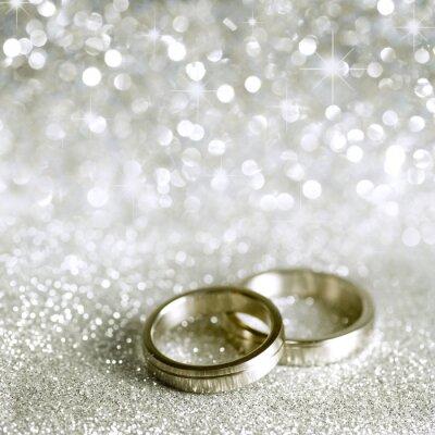 Bild Hochzeitsringe und Sterne in Silber