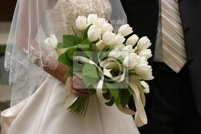 Hochzeitsstrauss Leinwandbilder Bilder Braut Atlas Tulpen