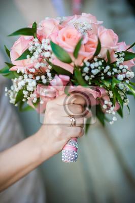 Hochzeitsstrauss Leinwandbilder Bilder Gruner Espousal Kamille