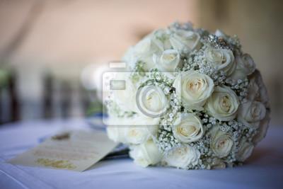 Hochzeitsstrauss Weiss Leinwandbilder Bilder Braut Braut Kleiden