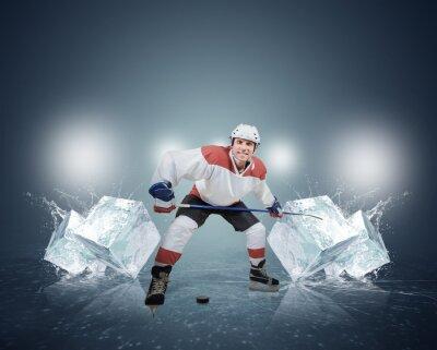Bild Hockey-Spieler mit Eiswürfeln