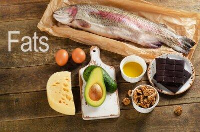 Bild Hohe Fette Lebensmittel, die gesund sind