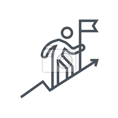 Bild Holen Sie sich auf, klettern eine Berg-Symbol