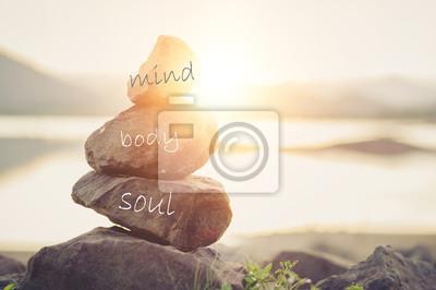Bild Holistic health concept of zen stones .Concept body, mind, soul, spirit,