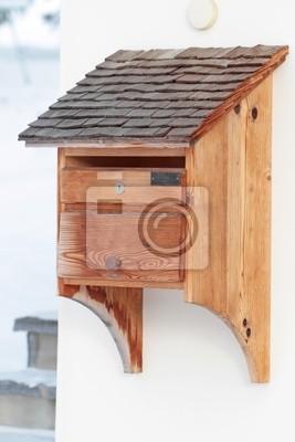 Holz Briefkasten Leinwandbilder Bilder Posteingang Briefkasten