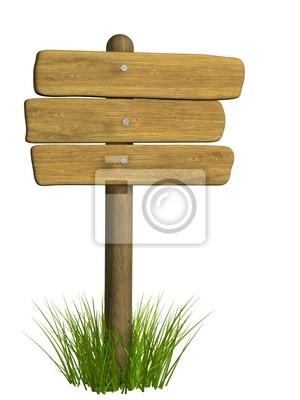 Holz Schild aus drei Brettern
