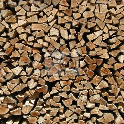Holz Vor Der Hutte Zaun Aus Brennholz Leinwandbilder Bilder