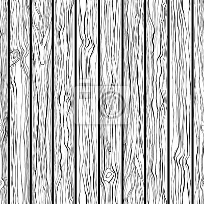 Holzbeschaffenheit Nahtlose Vektor Muster Schwarz Weiß Hand
