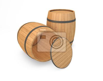 Bild Holzfässer isoliert