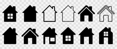 Bild Home flat icon set vector illustration