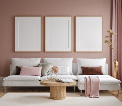 Bild Home mock up, modern living room interior background, 3d render