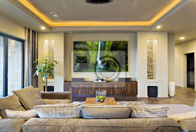 Bild Home Theater in New Modern House