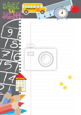 Hopscotch - zurück in die Schule - Hinweis Hintergrund Vektor