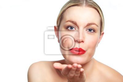 Hot weibliche Modell Durchbrennenkuß