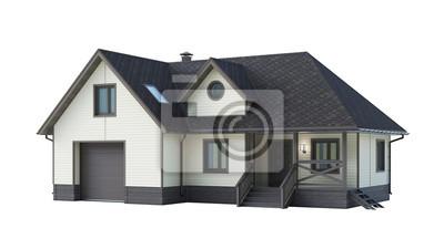 Bild house isolated on white background
