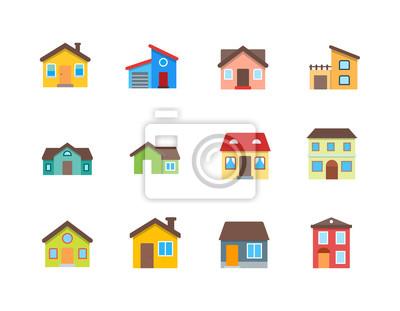 Bild House vector flat illustration / Home flat icon set.