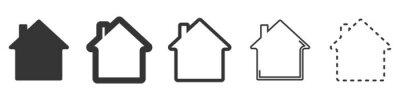 Bild House vector icons. Set of black houses symbols