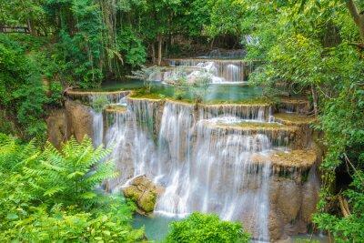 Bild Huai Mae Khamin Wasserfall in der Provinz Kanchanaburi, Thailand.