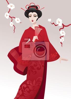 Hübsche Geisha
