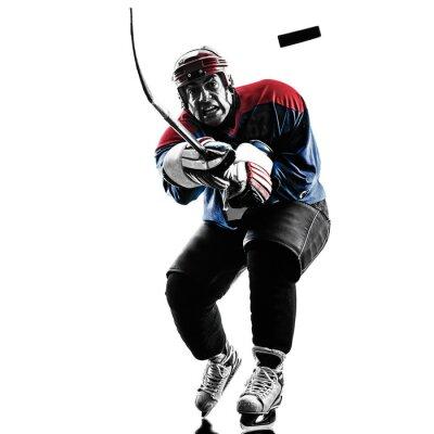 Bild Ice hockey player silhouette Mann