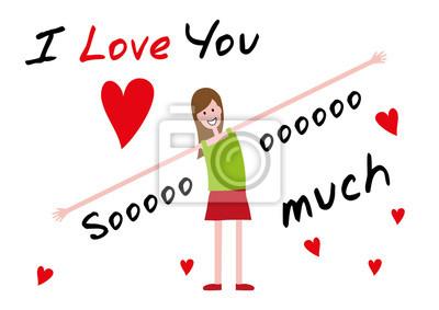 Ich Liebe Dich Ich Liebe Dich So Sehr Bearbeitbare Vektor