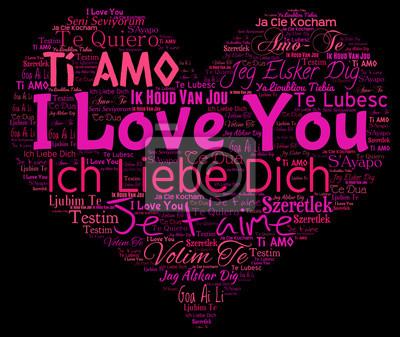 ich liebe dich in sprachen