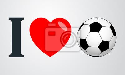 Ich liebe futbol Farbe en fondo degradado