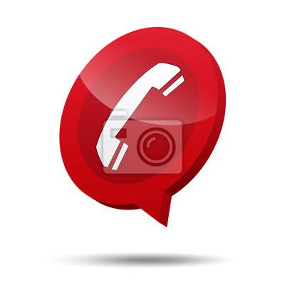 Icono 3d Telefon emergencia