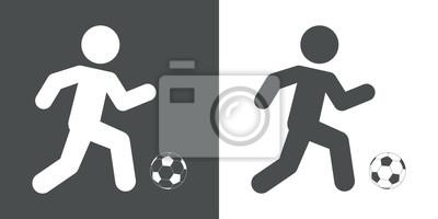 Icono plano futbolista # 1
