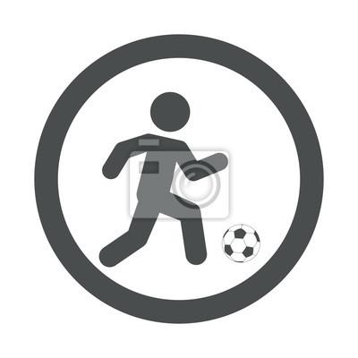 Icono plano futbolista en circulo Farbe gris