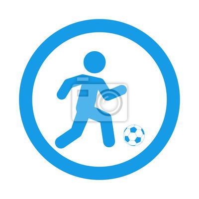 Icono plano futbolista in Umlauffarbe azul
