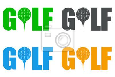Icono plano GOLF en varios farben # 1