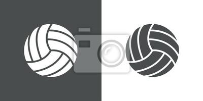 Icono plano pelota voleibol # 1