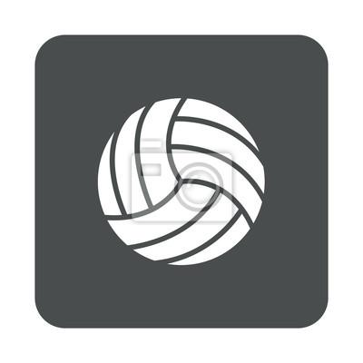 Icono plano Pelota voleibol en cuadrado gris