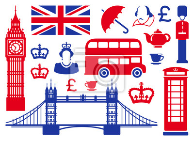 Icons auf einem Thema von England