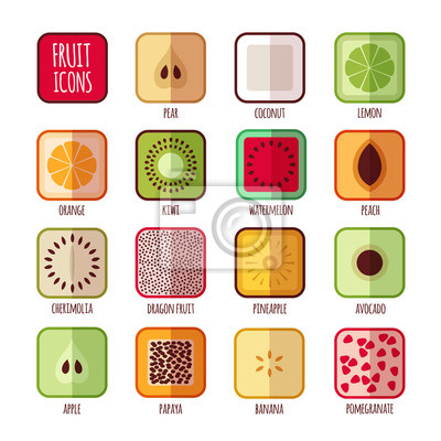 Icons Obst