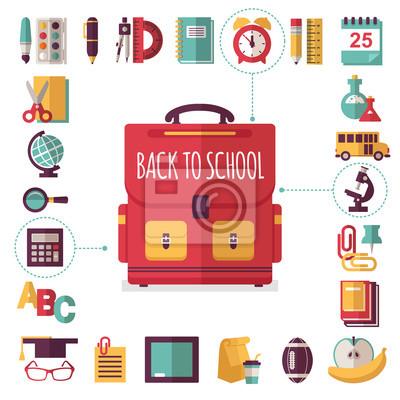Icons set Schule