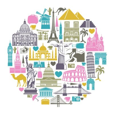 Icons Welt Touristenattraktionen